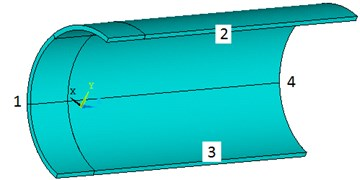 The schematic diagram of the model of one quarter of the full pipeline