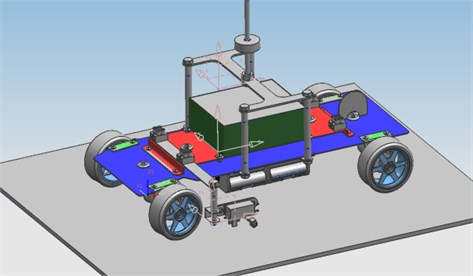 The 3D model in NX5 environment