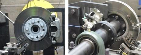 Measurements in brake judder experiment
