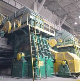 A crusher – general view (note bearings with yellow housing)