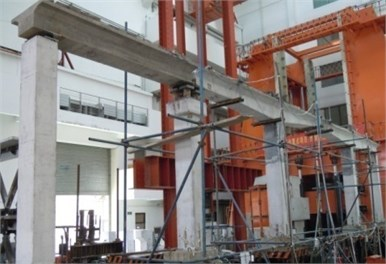 The 1/10 scaled bridge model
