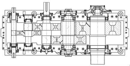 Structure diagram of a marine vessel gearbox