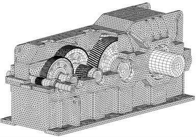 The finite element model of gear system