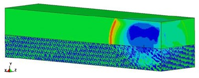 Blast pressure duration curve of surface contact blast from the simulation analysis