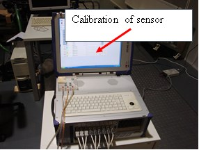 Calibration of the sensor