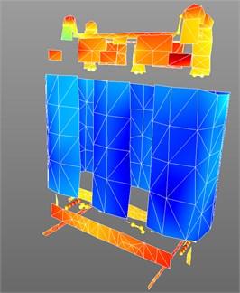 Operation deflection shape, vibration velocity of transformer
