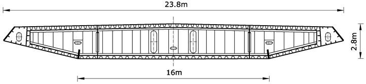 Cross-section scheme of Sutong Bridge (China)