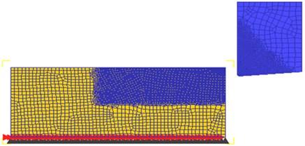 FEM simulation model of orthogonal cutting