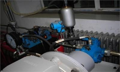 Test plunger pump rig