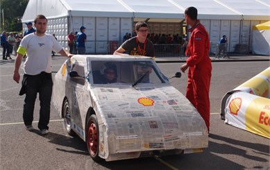 Racing vehicle prepared for Shell Eco-marathon [7]