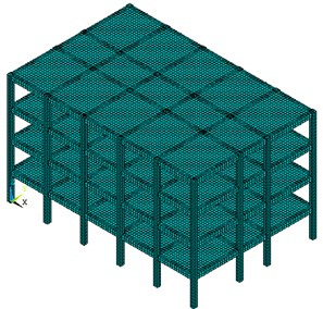 Finite element model of the frame structure