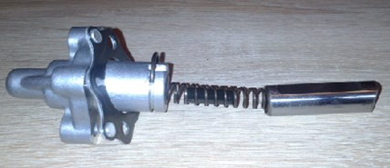 View of the tensioner with a washer