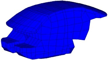 Finite element model of the acoustic cavity