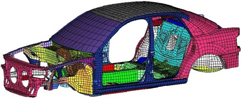 The finite element model of BIW