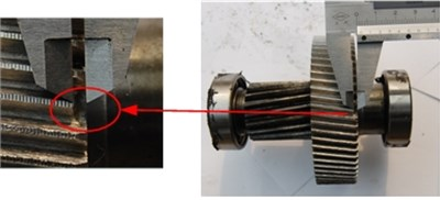 The fault gears used in this study