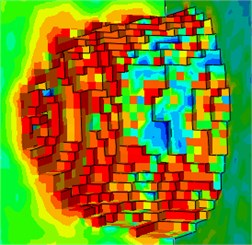 Rock morphology after rock fragmentation by roadheader