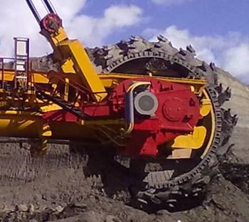 New drive of the bucket wheel excavator ER1250 operating body