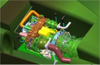 3D model of engine system