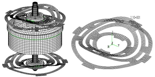 Vibration modes of E shaker and moving system