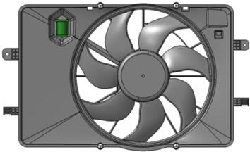 Cooling fan module model