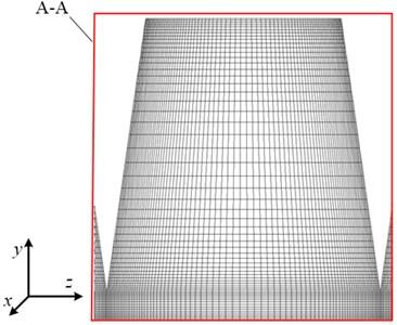 Schematic diagram of computation grid