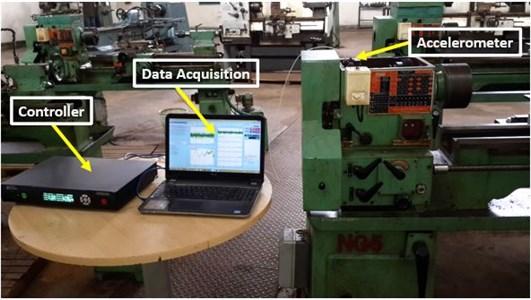 Vibration data acquisition setup