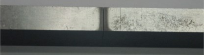 Transverse crack fabricated by wire-cutting machine