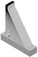 FEM mesh of dam model