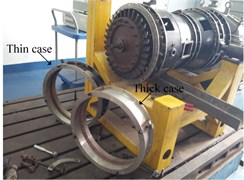 Pro installed  thick wall turbine casing