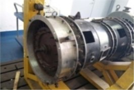 After installed thick wall turbine casing