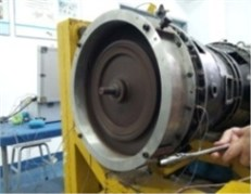 Thick wall turbine casing single-point rub experiment