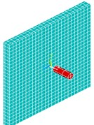 Finite element model of slab and engine