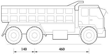 The three-axle loading truck