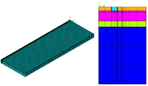 Representation of the symmetric half of the stretch of track in the model