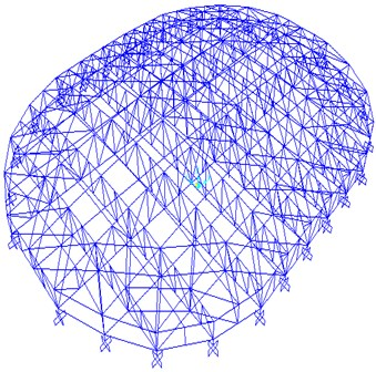 Finite element model of the roof structure of GISA