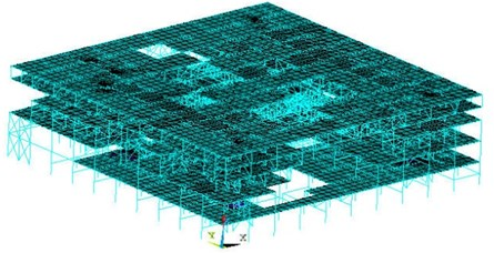 Schematic diagram of model structure ANSYS