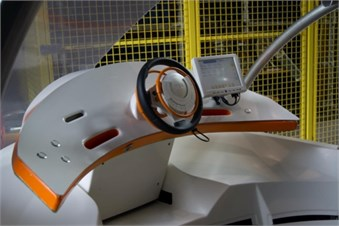 Location of a driver's active wheelchair and moveable dashboard with multifunction steering wheel