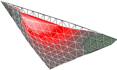 First-order mode shapes of large model in experimental analysis