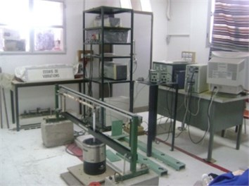 Modal testing set-up