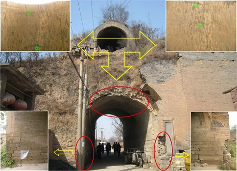 Illiustration of the distribution of actual crack of Hangu Gate Pass