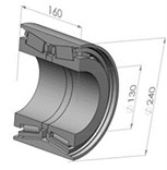 The structure model of High-speed rail bearing