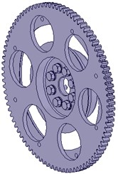 The different structure of flywheel