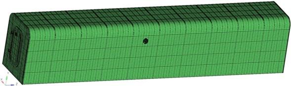Finite element model of refuge chamber