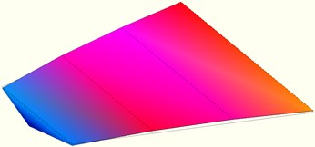 First three mode shapes of composite wing structure