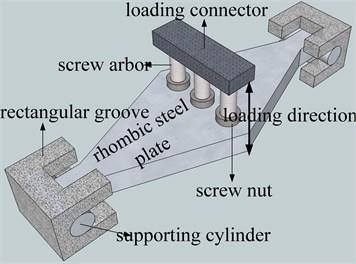 Installation diagram  of rhombic steel plate dampers