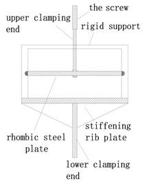 Testing layout of rhombic steel plate dampers