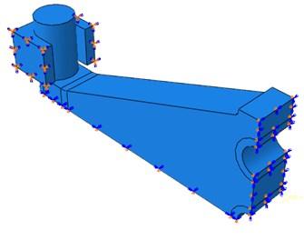Model boundary conditions of quarter model
