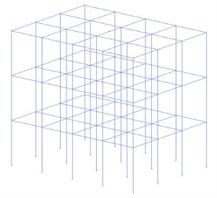 3D OpenSEES models of 3, 5 and 8 story considered buildings