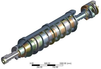 Geometric model of the decanter centrifuge