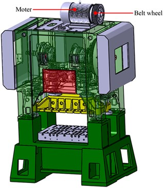 3D model of the high-speed press